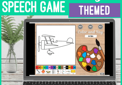 Digital Coloring Games for Speech Therapy