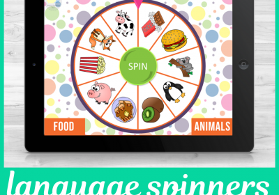 Digital Language PowerPoint Spinners for Speech Therapy