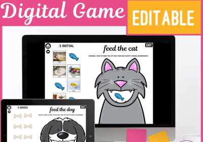 Digital Feed the Animal Games for Speech Therapy