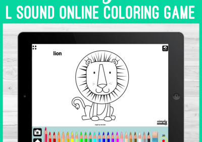L Sound Articulation Online Coloring Book for Speech Therapy