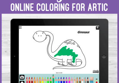 Online Articulation Coloring Books for Speech Therapy