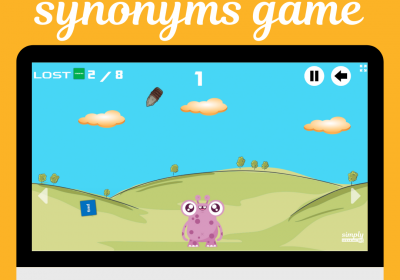 Feed the Monster Synonyms Online Game for Speech Therapy