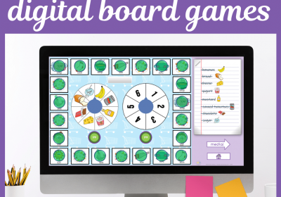 Digital Shopping Board Games for Speech Therapy