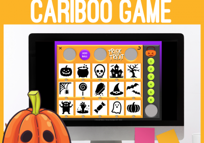 Halloween Themed Digital Cariboo for Speech Teletherapy and iPad