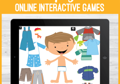 Online Dress Up Games for Speech Teletherapy or iPad