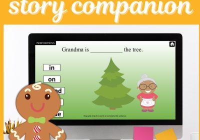 Digital Gingerbread Man Story Companion for Speech Teletherapy