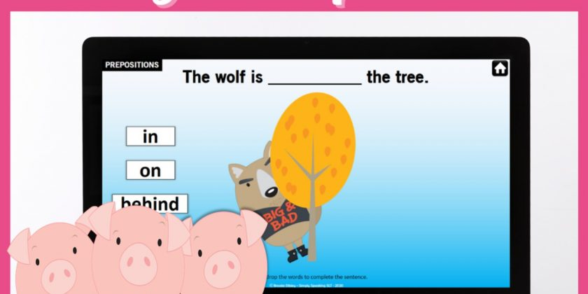 Digital Three Little Pigs Story Companion for Teletherapy