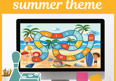 Online Board Game for Summer Themed Speech Therapy