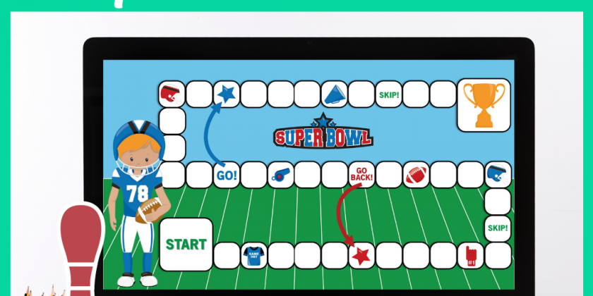 Online Board Game for Super Bowl Themed Speech Therapy