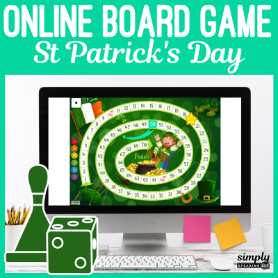 St Patrick's Day Online Board Game for Speech Teletherapy