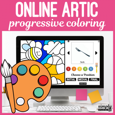 Progressive Coloring Online Speech Therapy Games for Articulation