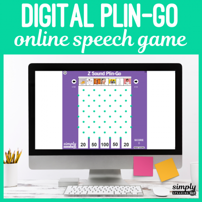 Digital Online Plin-Go Games for Speech Therapy
