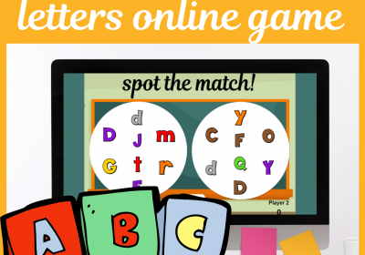 Letters Online Spot the Match Game for Speech Therapy