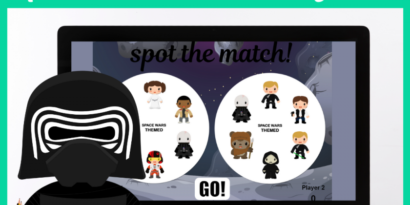 Space Wars Online Spot the Match Game for Speech Therapy
