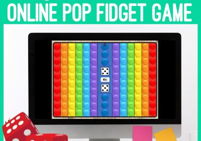 Online Digital Pop Fidget Dice Game for Speech Therapy