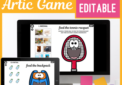 Digital Feeding Games for Speech Teletherapy or In Person Therapy