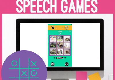 Digital Online Tic Tac Toe Games for Speech Therapy