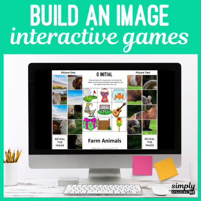 Digital Build an Image Games for Speech Therapy