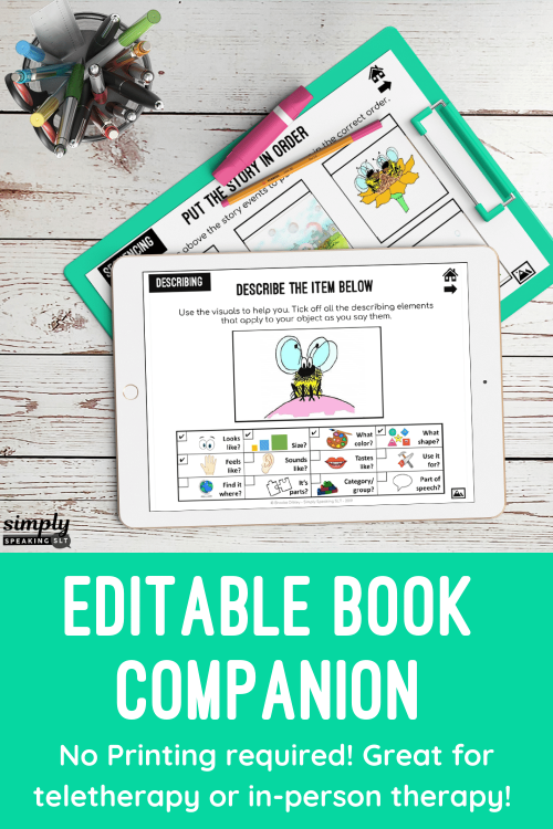 Editable Book Companion for Any Book : No Print & Printable : Speech & Language