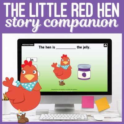 The Little Red Hen Story Companion Speech Therapy Game