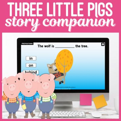 Three Little Pigs Story Companion Speech Therapy Game