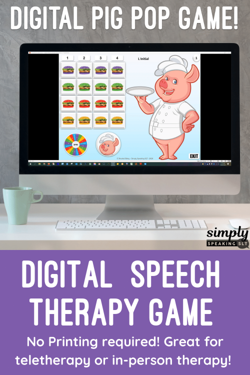 Digital Pig Pop Game fro Speech Therapy