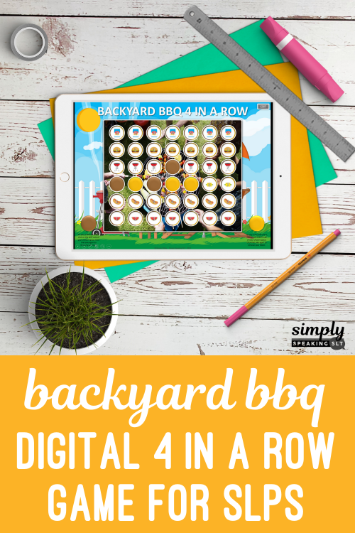 Static Pins Backyard BBQ Digital 4 in a Row Game for SLPS