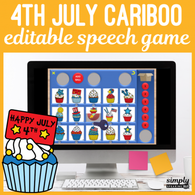 4th July Cariboo Editable Speech Game