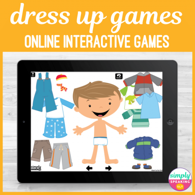 Dress Up Games Teletherapy