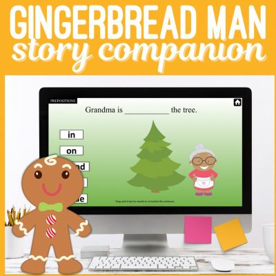 Gingerbread Man Story Companion Speech Therapy Game