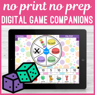 Digital game companions for speech therapy