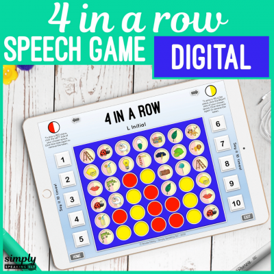 Digital 4 in a Row No Print Game for Articulation on an iPad or in Teletherapy