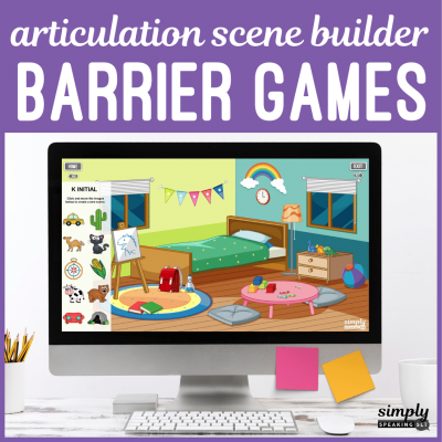 Articulation Scene Builder Speech Games for No Print Teletherapy