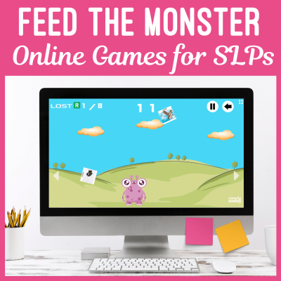 Feed the monsters online games for speech therapy