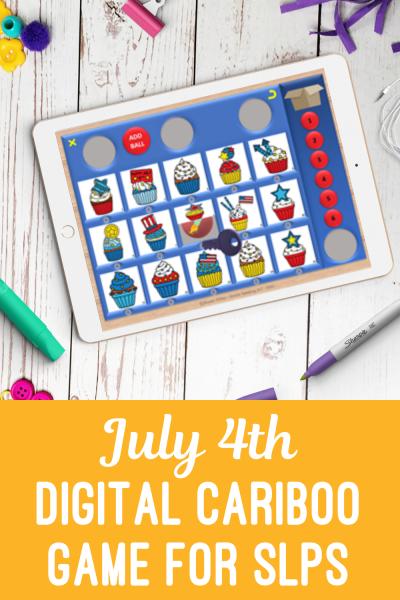 Static Pin - 4th of July Digital Cariboo Game