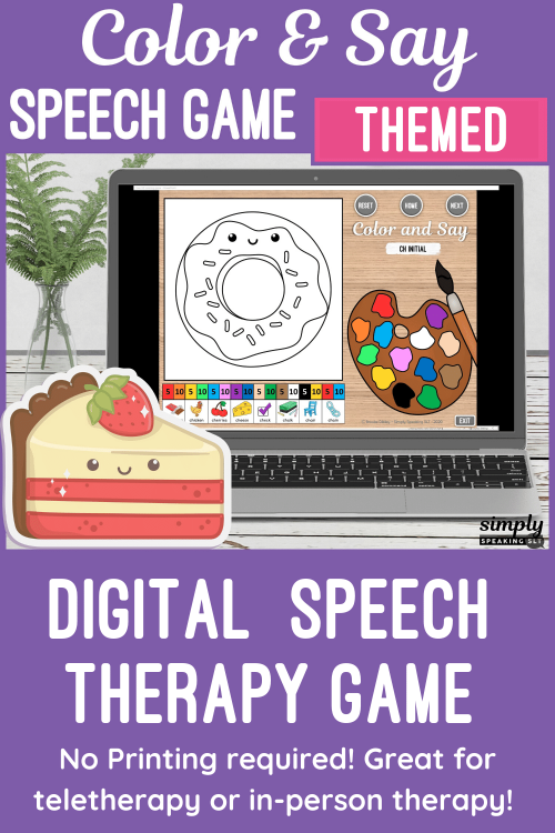 Color and Say Pin Speech Game