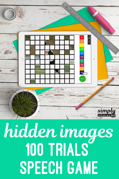 Digital Hidden Images Articulation Game for Speech Therapy