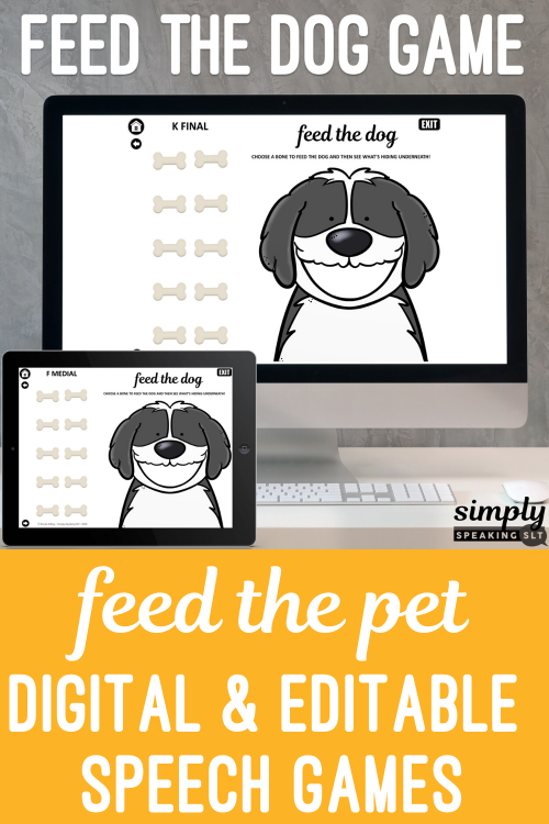 Digital Feed the Animal Articulation Game No Print Bundle Teletherapy or iPad