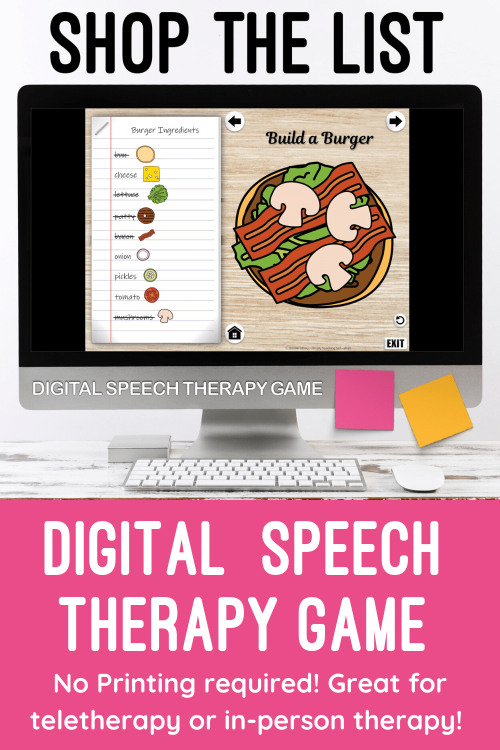 Static Pins Shop the list Digital Speech Therapy Game
