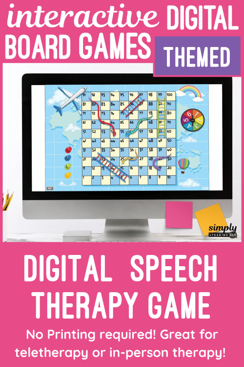 Digital Speech Therapy Board Games for Teletherapy or iPad
