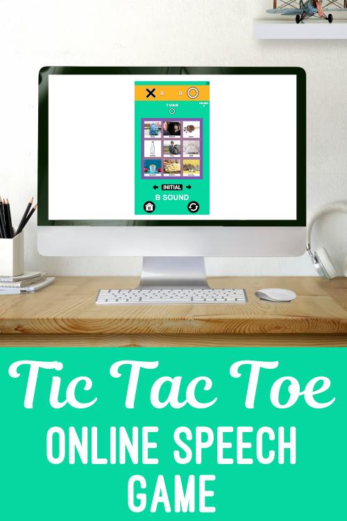 Tic tac toe pin