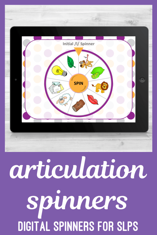 Digital PowerPoint Spinners for Speech Sound Articulation and Phonology