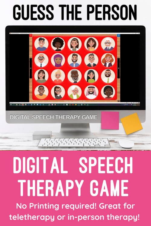 Guess the Person Teletherapy Game for Speech Therapy