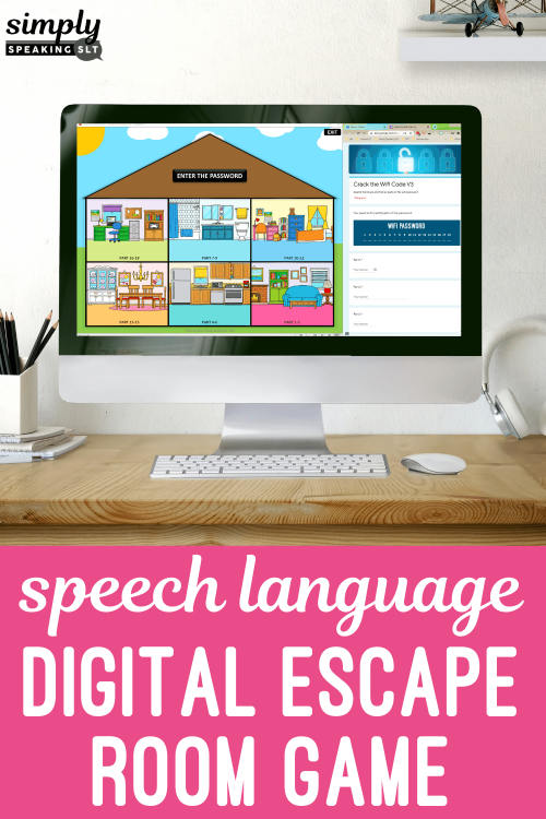 Digital Escape Room Game for Speech Therapy