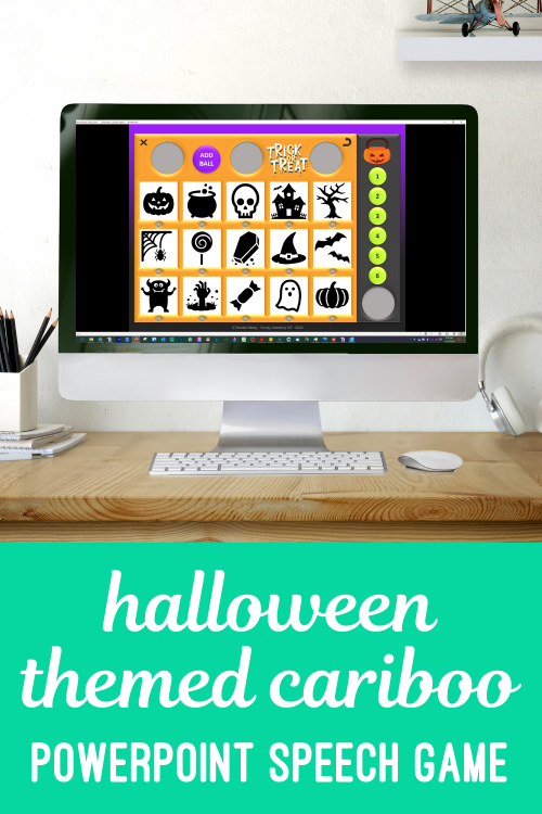 Digital Halloween Cariboo for teletherapy
