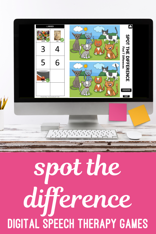 Spot the difference speech therapy games
