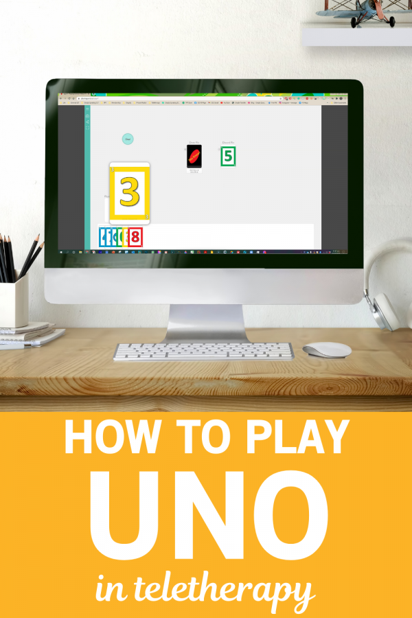 How to play Uno in Teletherapy by Simply Speaking SLT