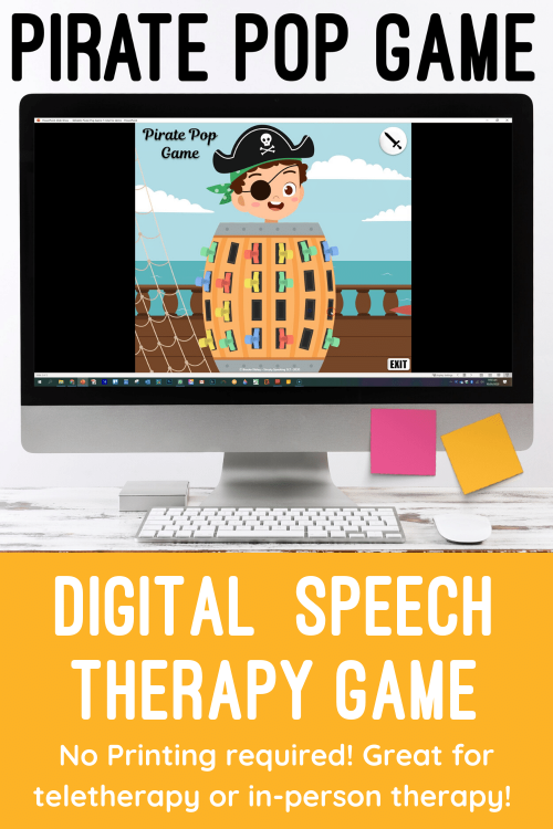 Digital Pirate Pop Game for Speech Therapy