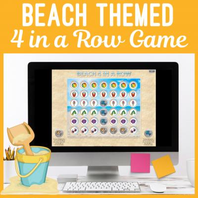 Beachg themed 4 in a row game